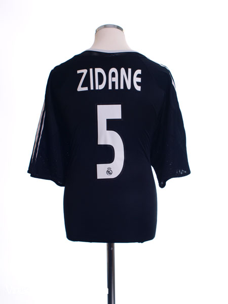 2004-05 Real Madrid Away Shirt Zidane #5 XL