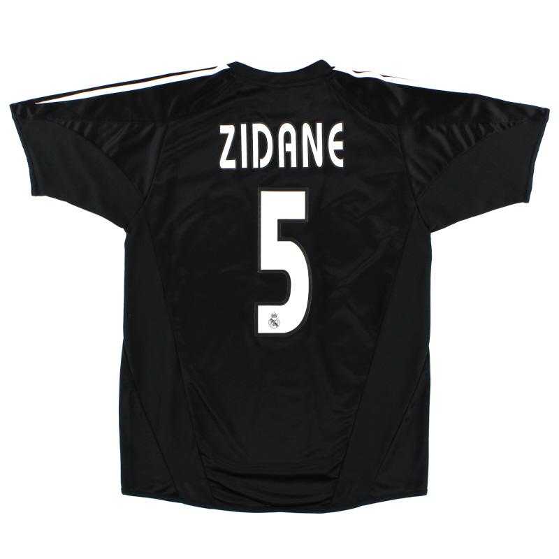 2004-05 Real Madrid Away Shirt Zidane #5 XL