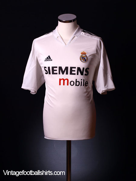 fed09923d 2004-05 Real Madrid Home Shirt Beckham  23 M for sale