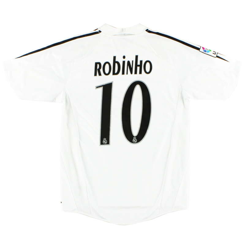 2004-05 Real Madrid Home Shirt Robinho #10 S