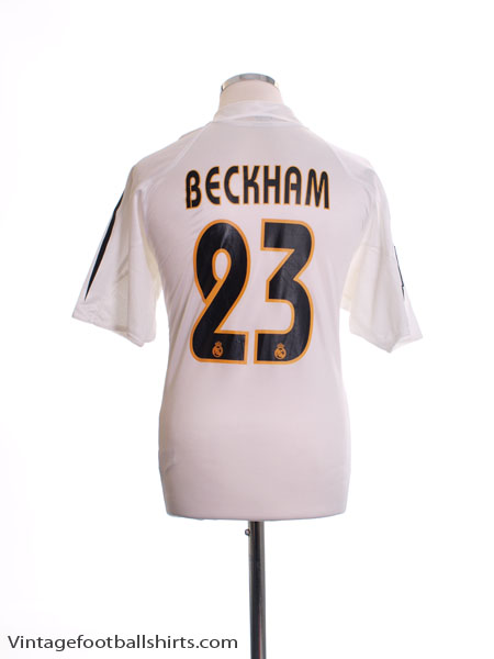 2004-05 Real Madrid Home Shirt Beckham #23 XL.Boys