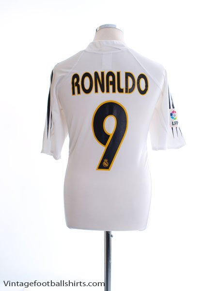 d3719c2d120 2004-05 Real Madrid Home Shirt Ronaldo  9 XL for sale