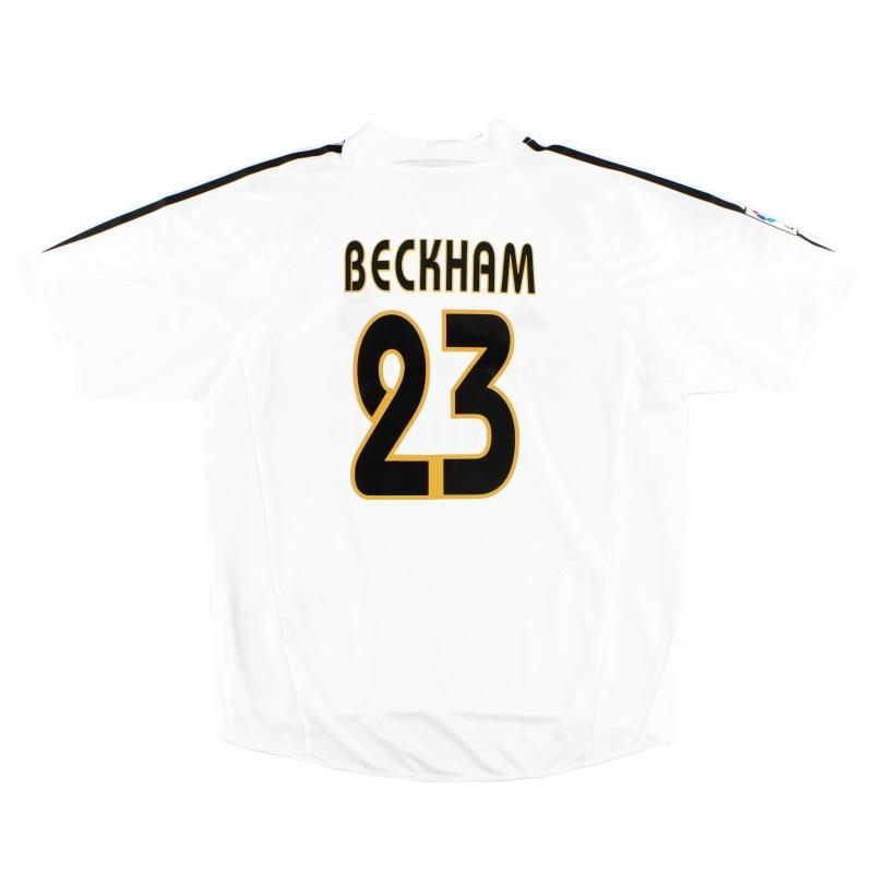2004-05 Real Madrid Home Shirt Beckham #23 L - 367842