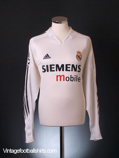 c644d80d5d4 2004-05 Real Madrid Champions League Home Shirt L/S XL for sale