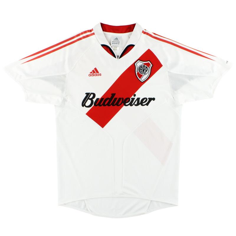 2004-05 River Plate adidas Home Shirt M/L - 540050