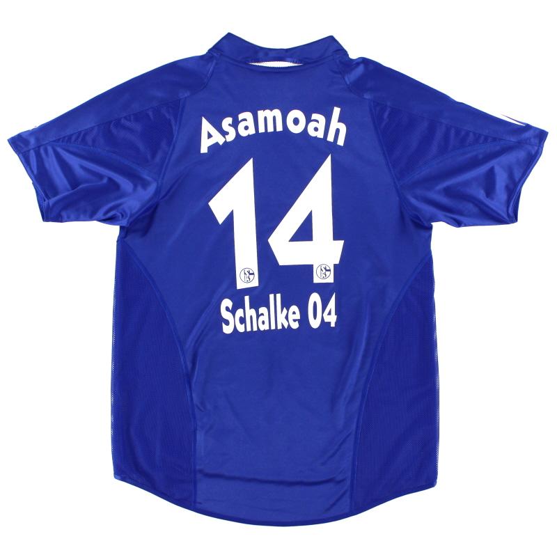 2004-05 Schalke Home Shirt Asamoah #14 S