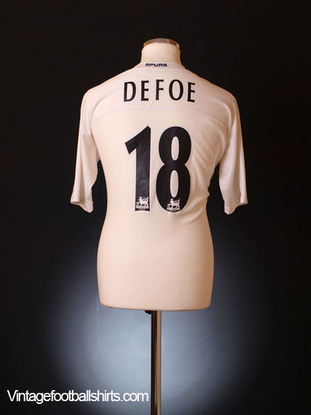 2004-05 Tottenham Home Shirt Defoe #18 XL