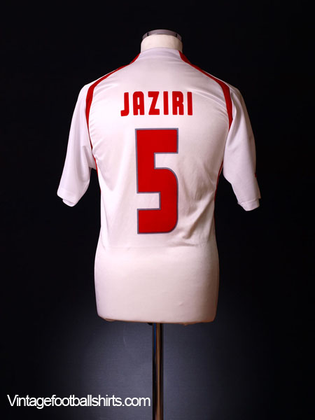 2004-05 Tunisia Home Shirt Jaziri #5 M