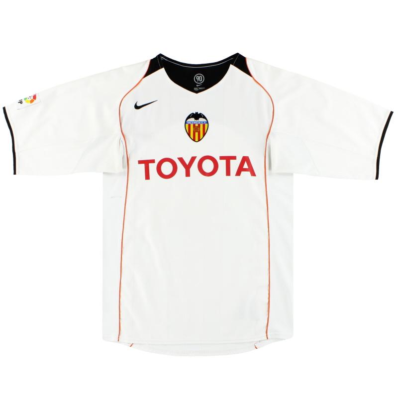 2004-05 Valencia Nike Home Shirt M - 04850958
