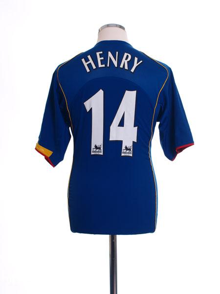 2004-06 Arsenal Away Shirt Henry #14 M