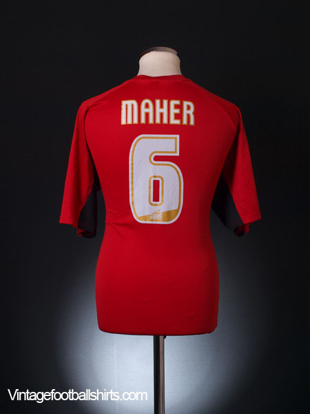 2004-06 Bournemouth Home Shirt Maher #6 XL