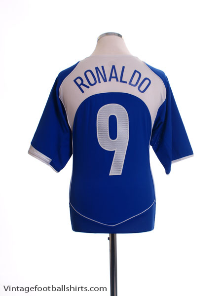 2004-06 Brazil Away Shirt Ronaldo #9 *As New* L