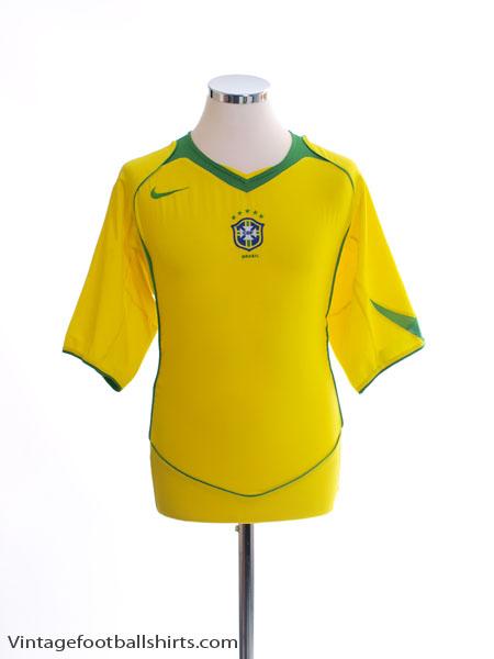 2004-06 Brazil Home Shirt L