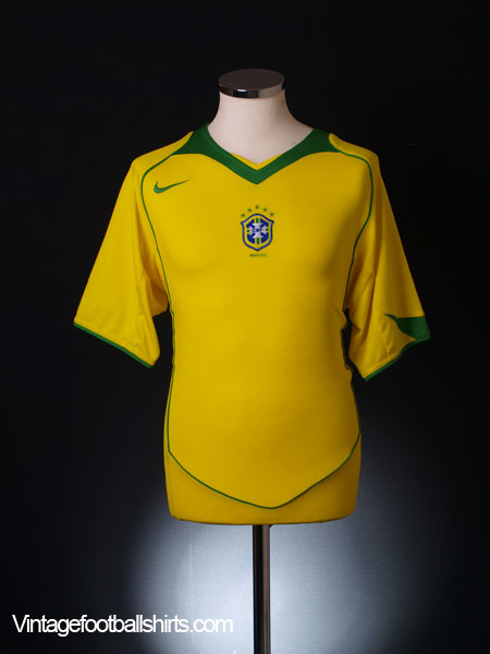 2004-06 Brazil Home Shirt *Mint* XL