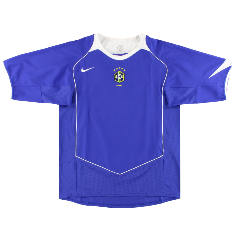 2004-06 Brazil Nike Away Shirt *Mint* S - 116601