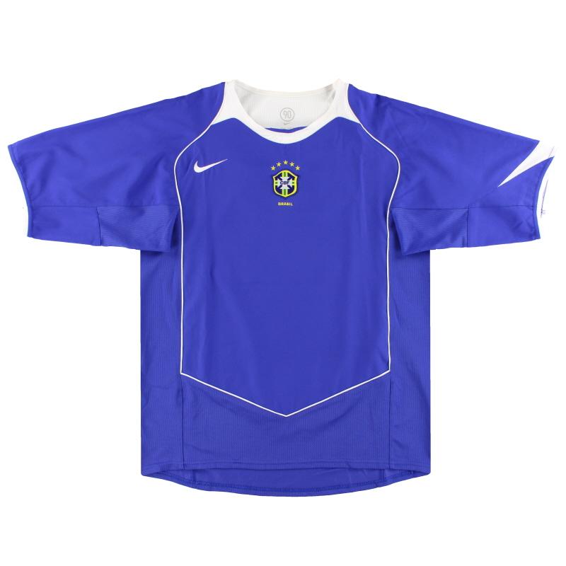 2004-06 Brazil Nike Away Shirt L