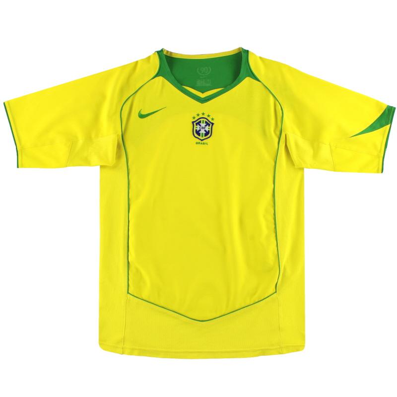 2004-06 Brazil Nike Home Shirt S