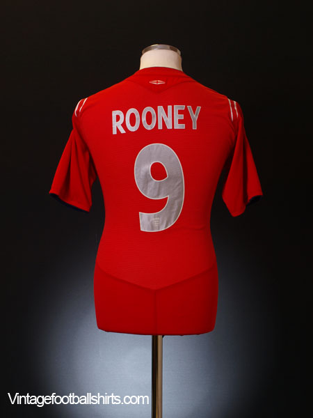 2004-06 England Away Shirt Rooney #9 M