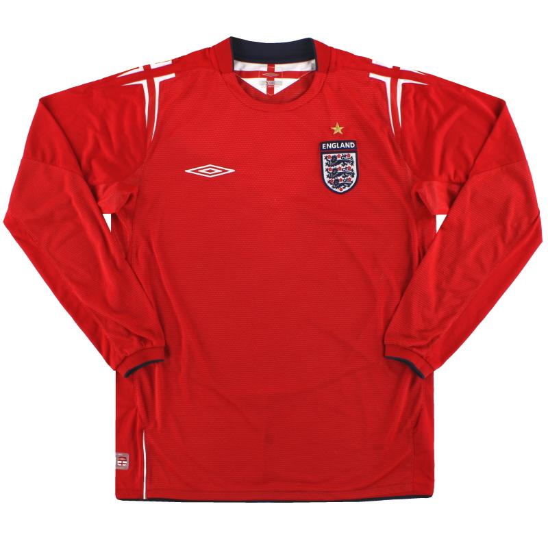 2004-06 England Umbro Away Shirt L/S M