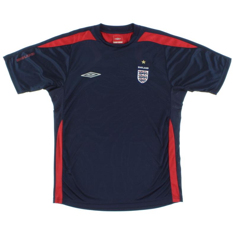 2004-06 England Umbro Training Shirt *Mint* M