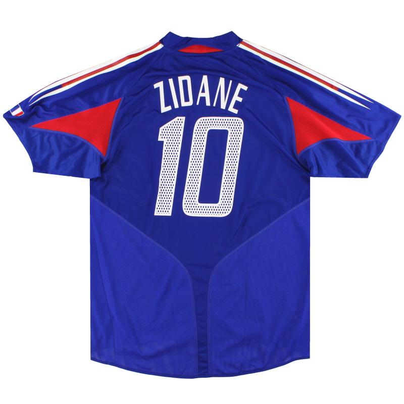 2004-06 France adidas Home Shirt Zidane #10 L - 600222