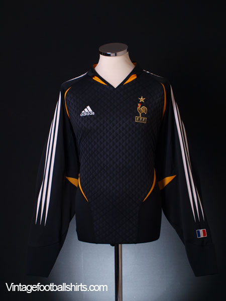 2004-06 France Goalkeeper Shirt L/S XL