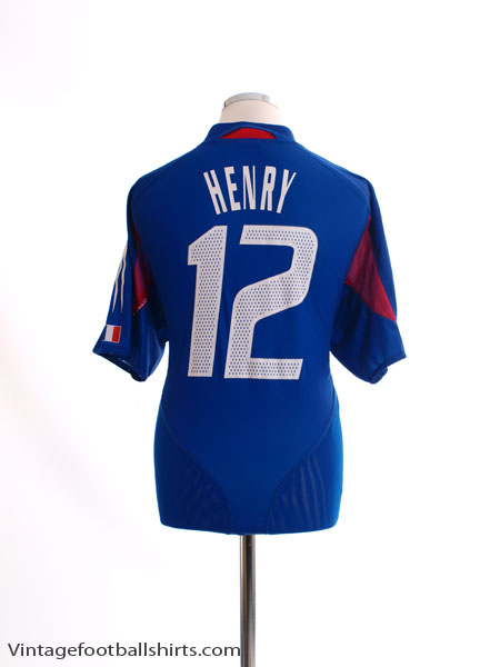 2004-06 France Home Shirt Henry #12 XL