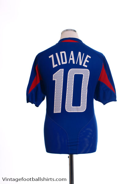 2004-06 France Home Shirt Zidane #10 L - 600222