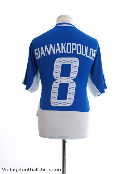 2004-06 Greece Home Shirt Giannakopoulos #8 *Mint* M