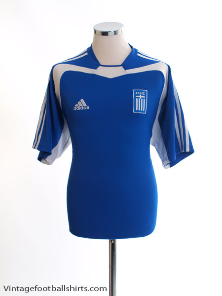 2004-06 Greece Home Shirt M - 110495