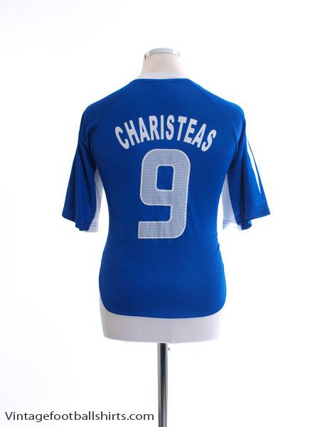 2004-06 Greece Home T-Shirt Charisteas #9 L