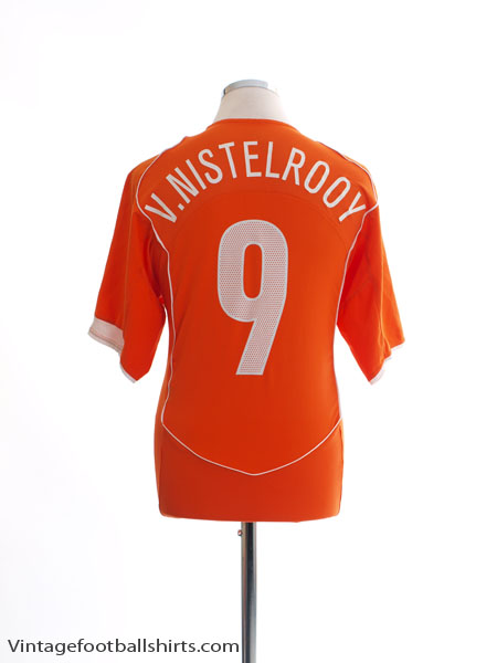 2004-06 Holland Home Shirt v.Nistelrooy #9 L