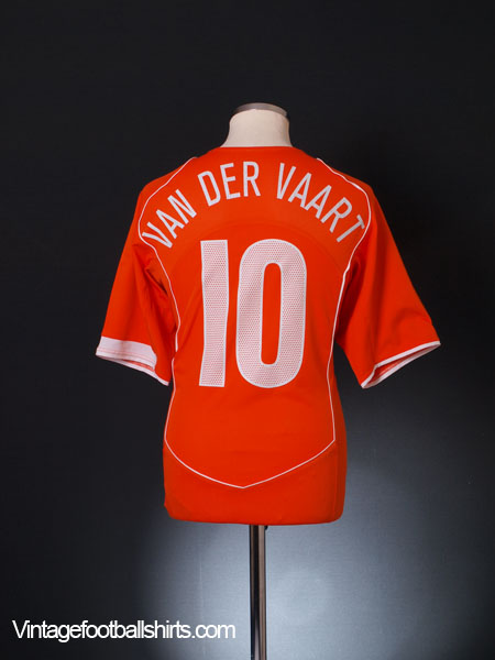 2004-06 Holland Home Shirt Van Der Vaart #10 L
