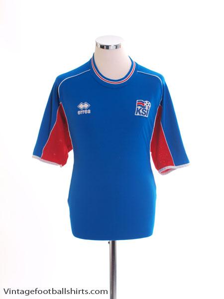 4af08e5af 2004-06 Iceland Home Shirt L for sale