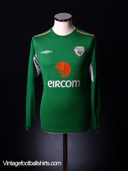2004-06 Ireland Home Shirt L/S  S