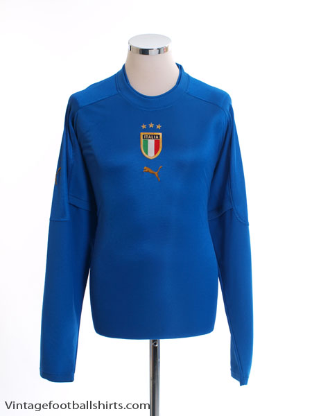 2004-06 Italy Home Shirt L/S XXL