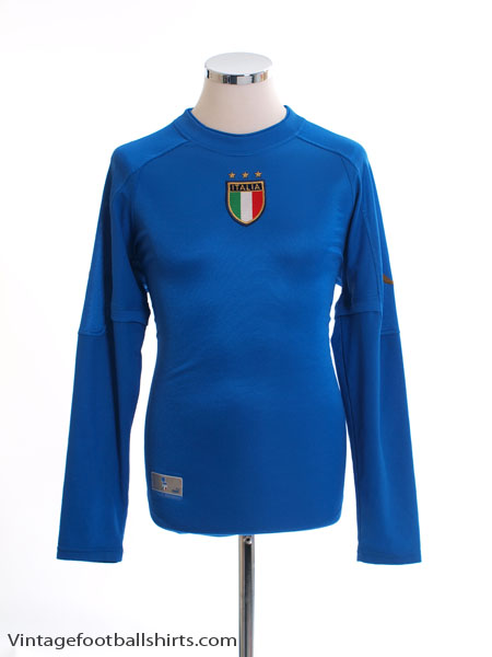 2004-06 Italy Home Shirt L/S M
