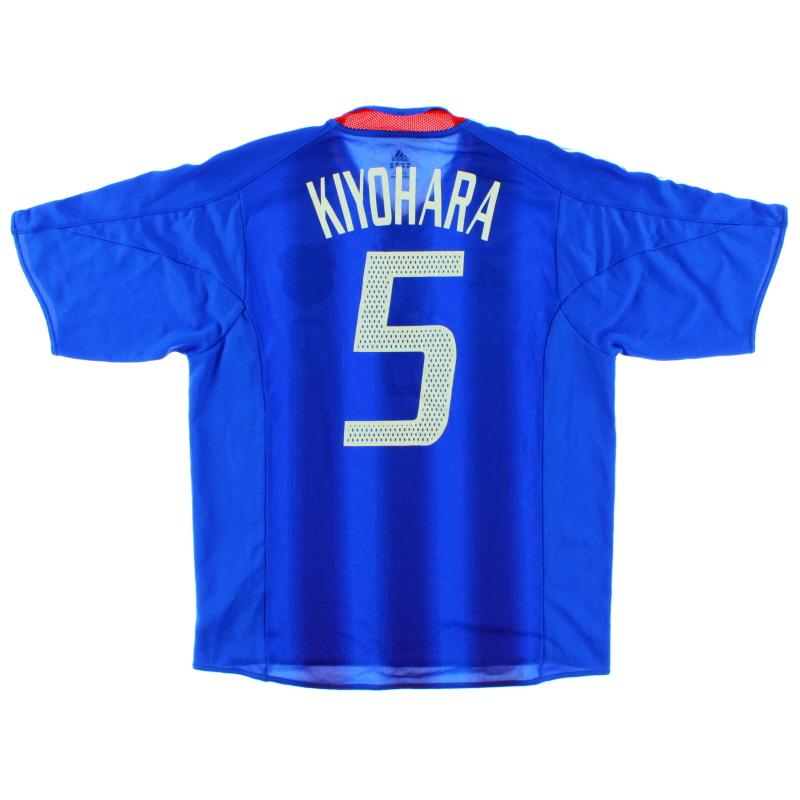2004-06 Japan Player Issue Home Shirt Kiyohara #5 M - 366414
