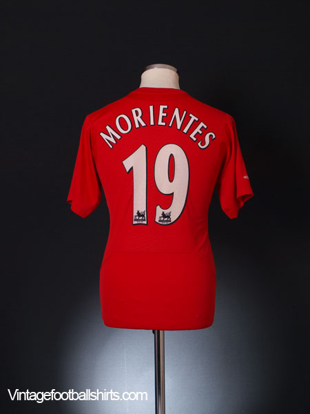 2004-06 Liverpool Home Shirt Morientes #19 S