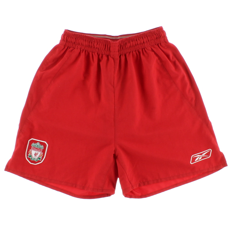 2004-06 Liverpool Home Shorts M.Boys