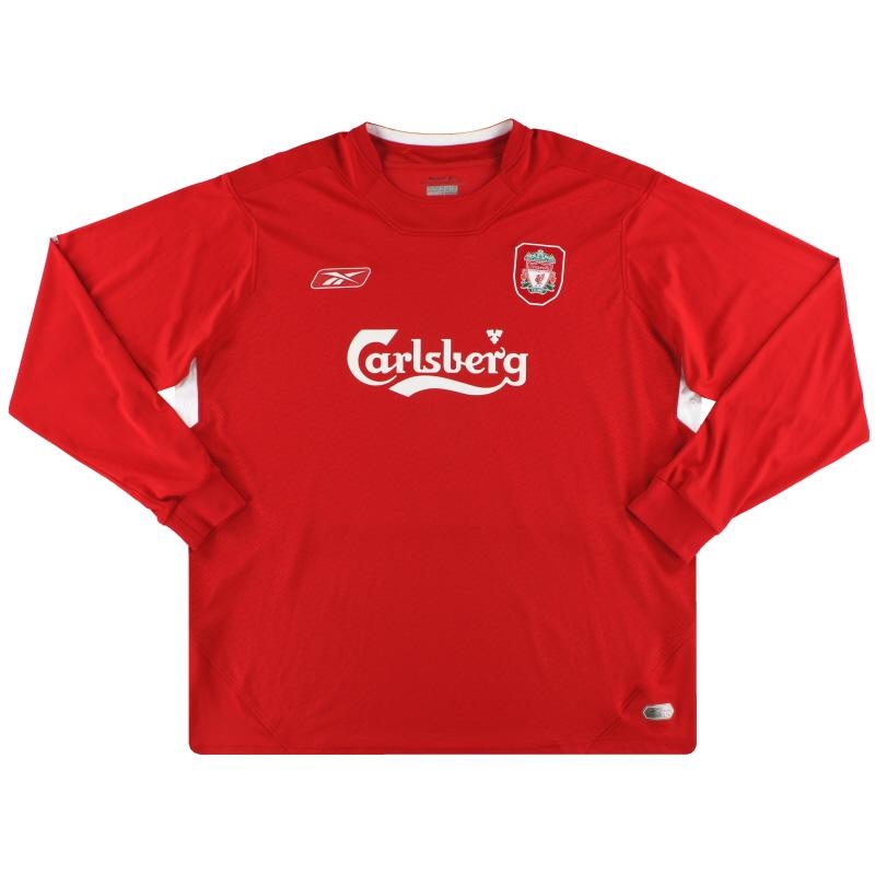 2004-06 Liverpool Reebok Home Shirt L/S XXL