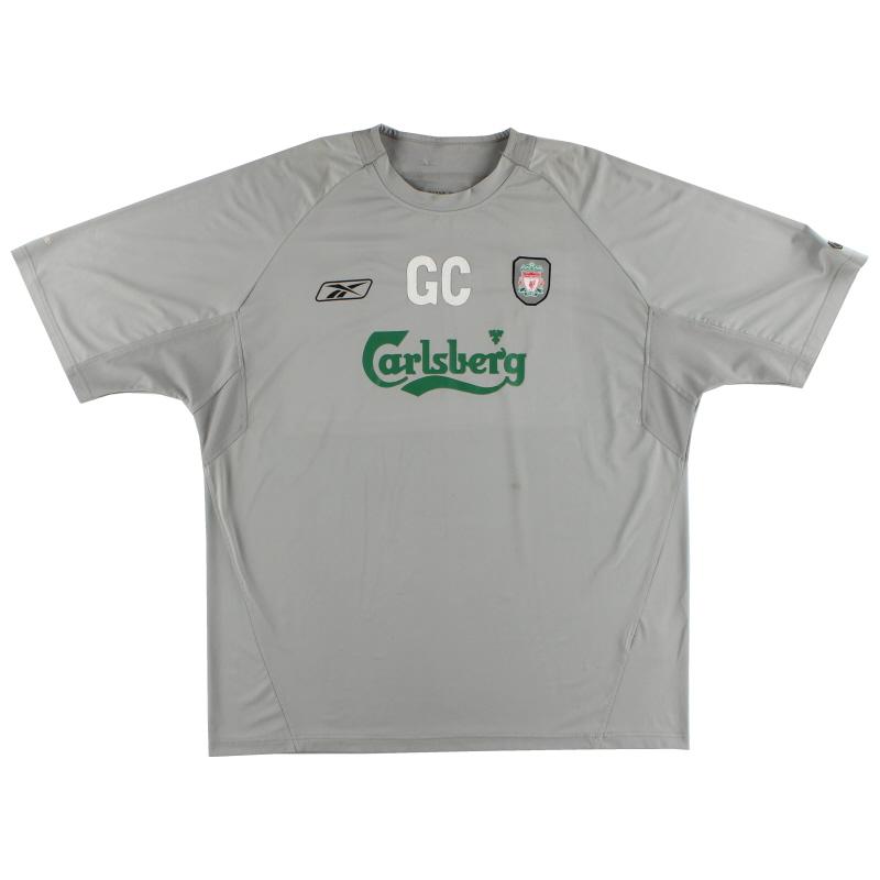 2004-06 Liverpool Worn Training Shirt GC XXL