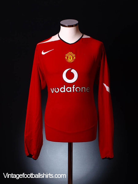 2004-06 Manchester United Home Shirt L/S L