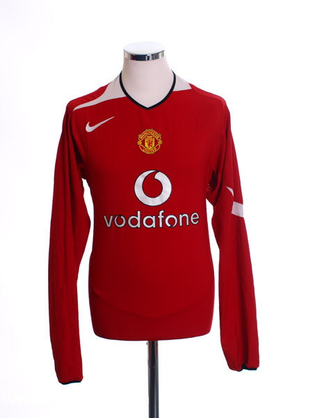 2004-06 Manchester United Home Shirt L/S XL
