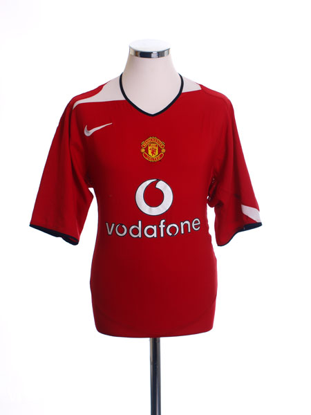 2004-06 Manchester United Home Shirt XS.Boys