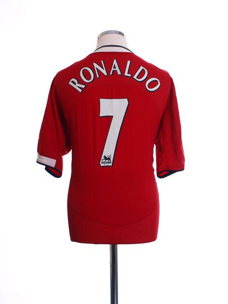 2004-06 Manchester United Home Shirt Ronaldo #7 S