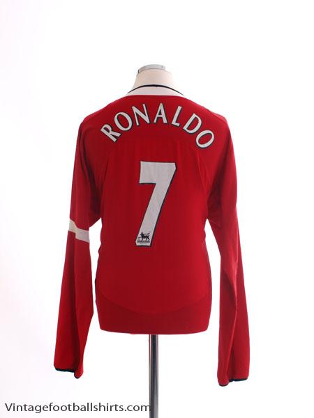 2004-06 Manchester United Home Shirt Ronaldo #7 L/S L