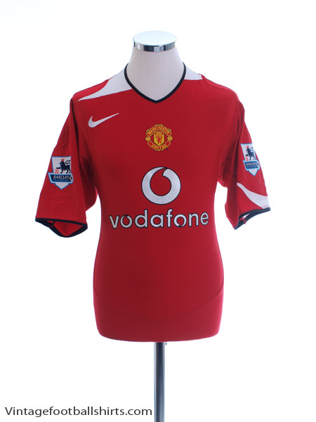 2004-06 Manchester United Home Shirt L - 118834