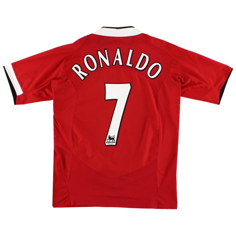 2004-06 Manchester United Home Shirt Ronaldo #7 M - 118834