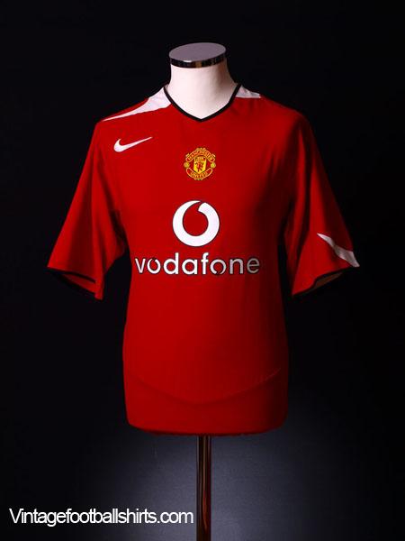 2004-06 Manchester United Home Shirt XL